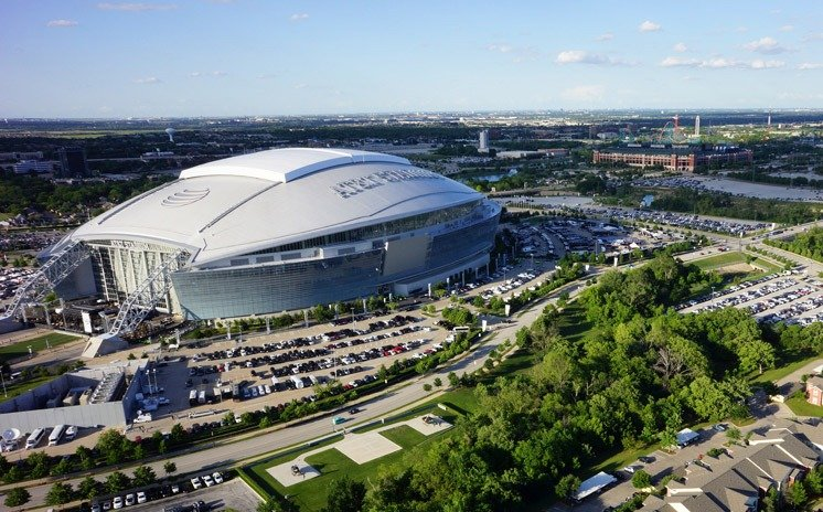 Arlington Texas is home to the Dallas Cowboys